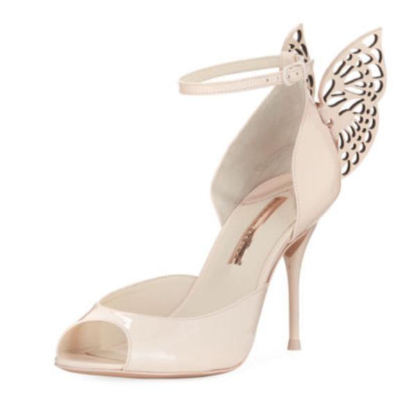 979302b34d42 Sophia Webster Nude Patent Butterfly Wings sandals
